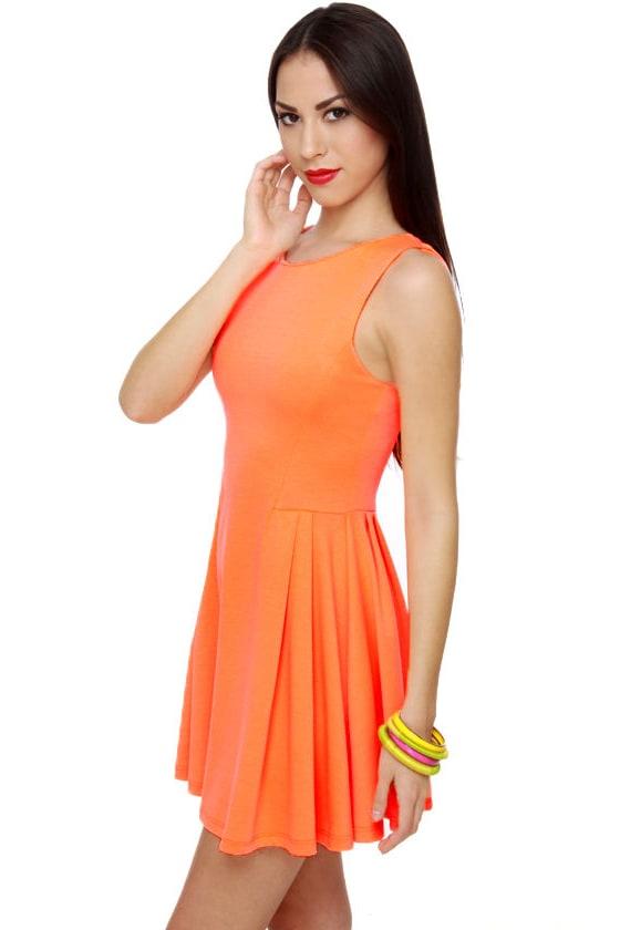 Hi Evening Glow Orange Dress