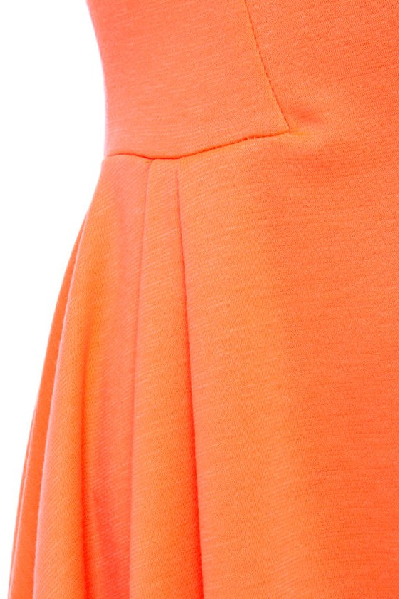 Glow with the Flow Neon Orange Dress