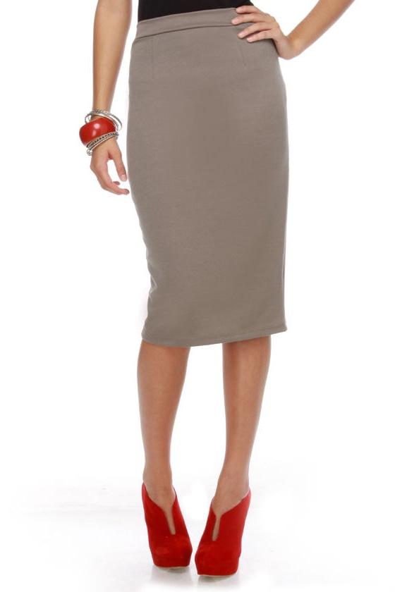 pencil skirt taupe skirt stretchy skirt 22 00