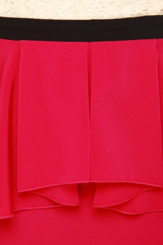 Scene It Red Color Block Dress