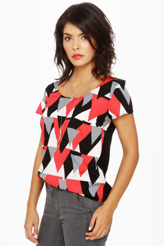 Pointer Sister Short Sleeve Print Top at Lulus.com!