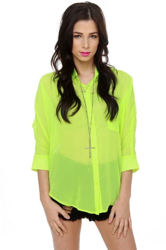 Weird Science Neon Yellow Top
