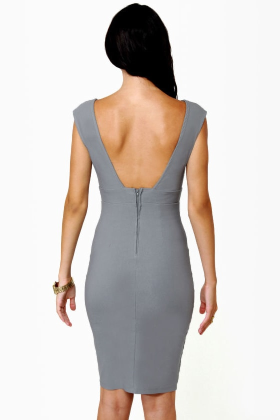 LULUS Exclusive Midi City Grey Dress at Lulus.com!