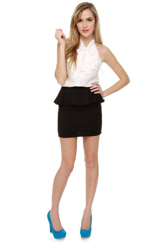Peppy Longstockings Black Skirt