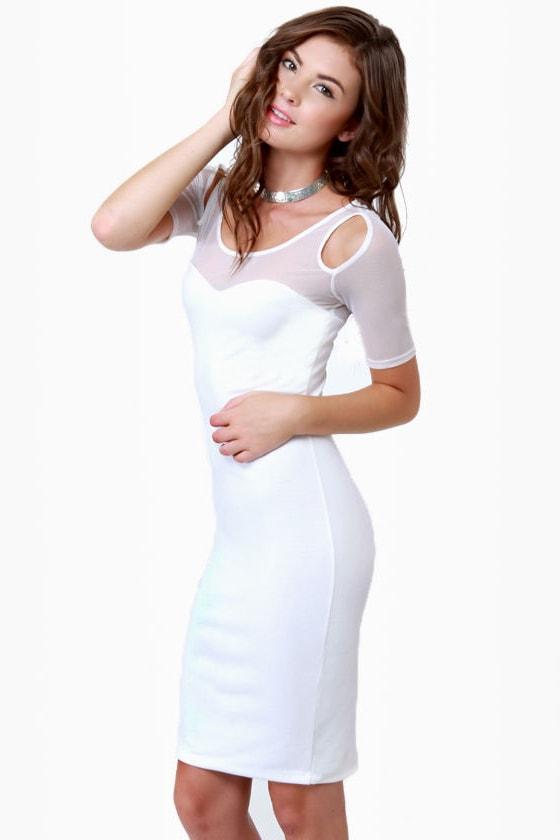 Net-asha Romanoff Ivory Dress