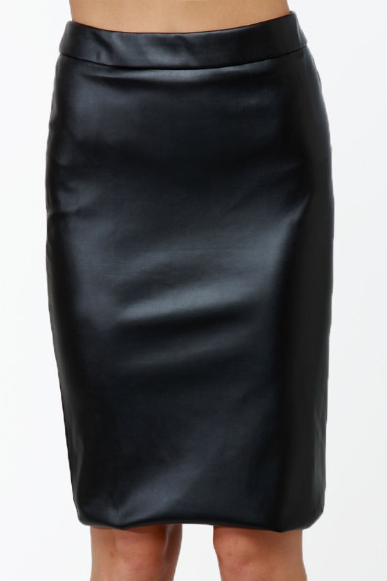 One of the Gang Black Vegan Leather Skirt