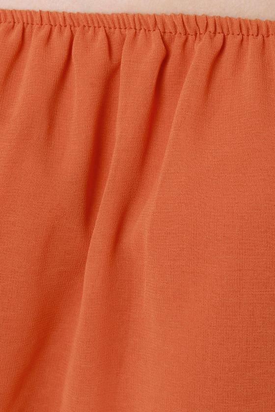 Landslide Off-the-Shoulder Orange Top