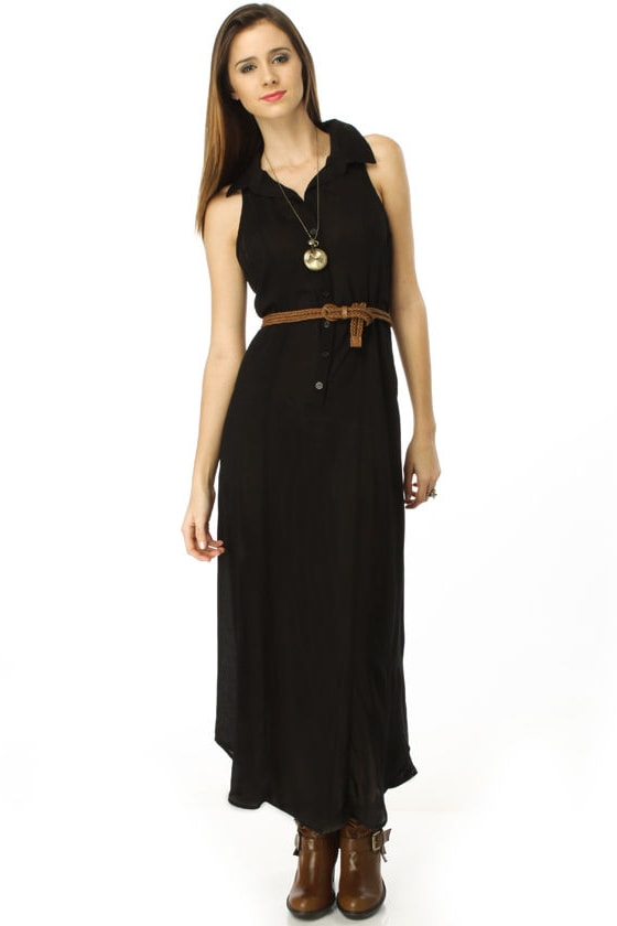 Long and Short of It Black Maxi Dress