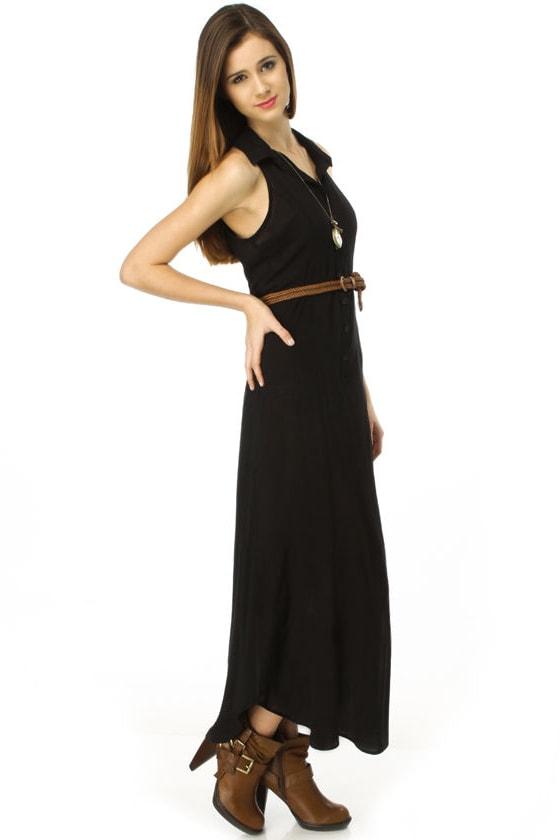 Long and Short of It Black Maxi Dress