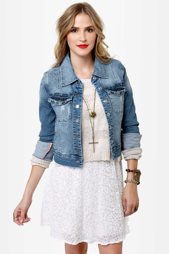 Billabong Nova Embroidered Denim Jacket at Lulus.com!