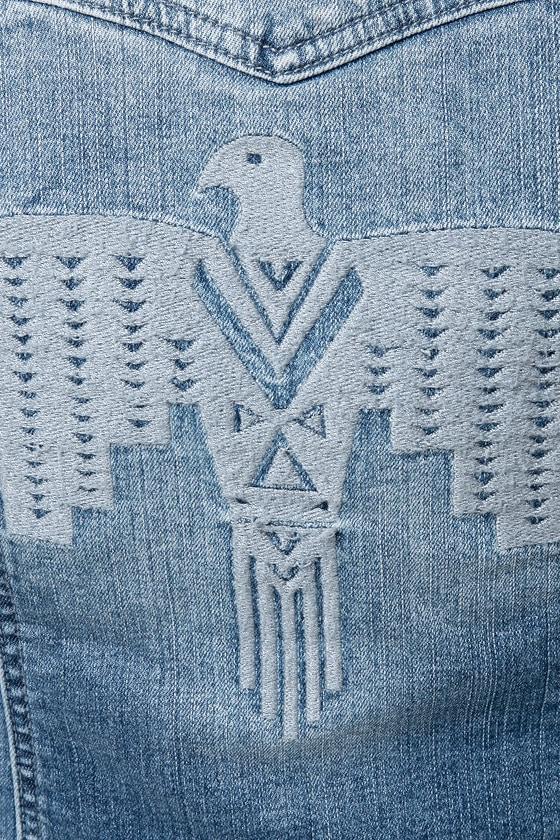 Billabong Nova Embroidered Denim Jacket