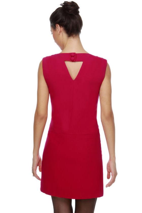 Hot Moddy Berry Red Dress
