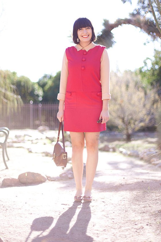 Hot Moddy Berry Red Dress