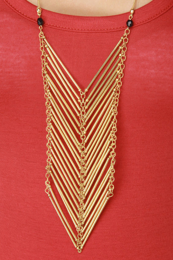 Zad Shield Armor Gold Necklace
