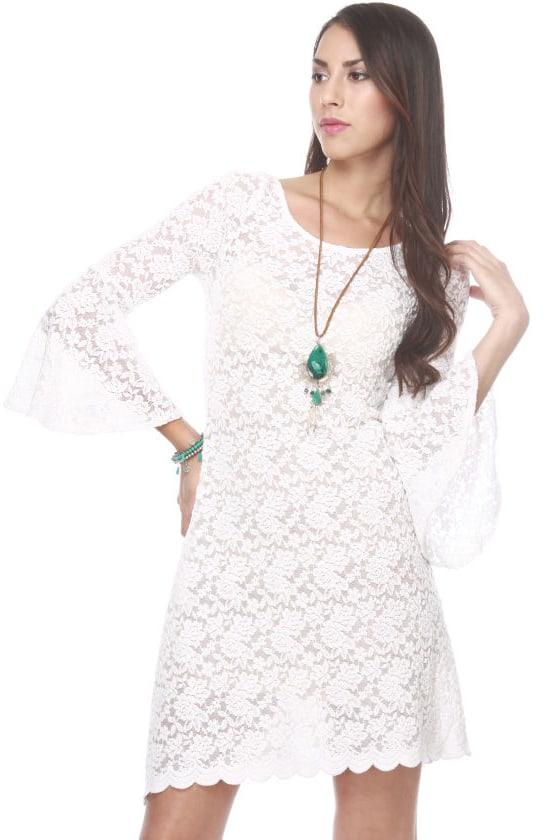 Snowberry Lane Lace White Dress