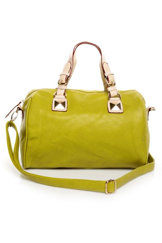 Lime Green Handbag - Duffel Bag - Green Purse - $47.00