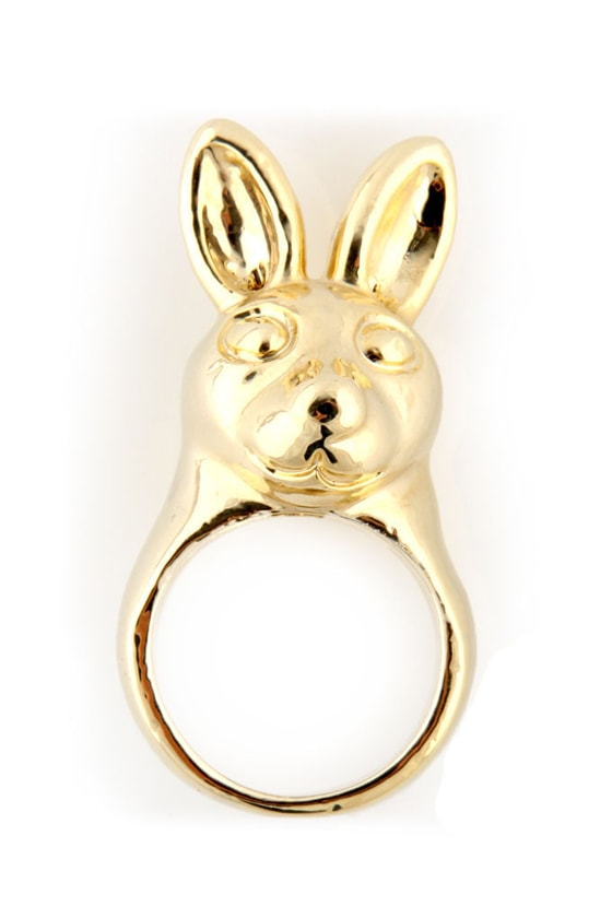 Some Bunny Loves Me Gold Ring