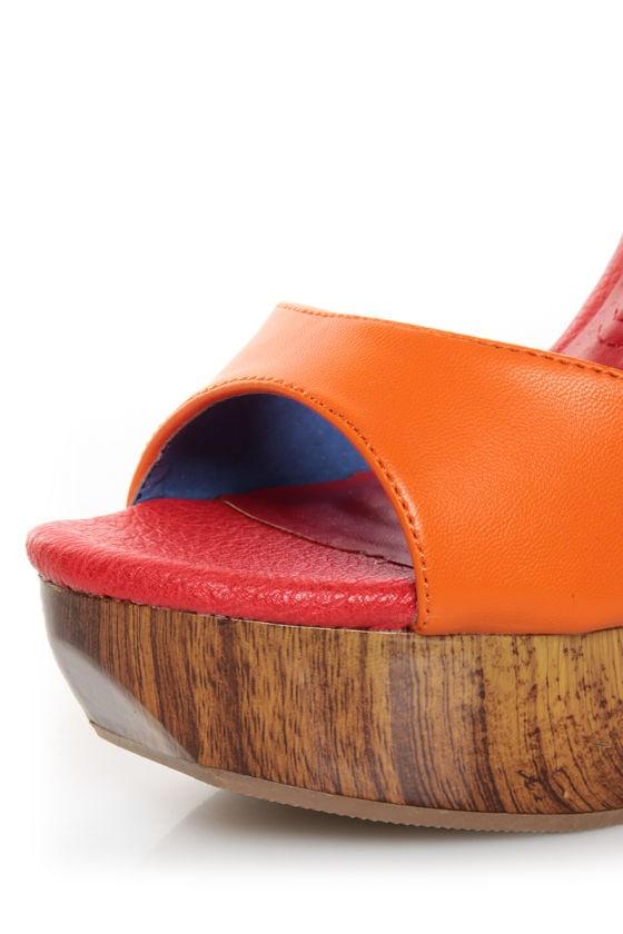 Mona Mia Trinidad Multi Color Block Platform Heels at Lulus.com!