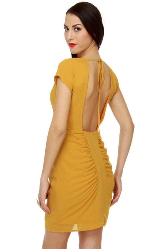 Butter Pat Golden Yellow Dress