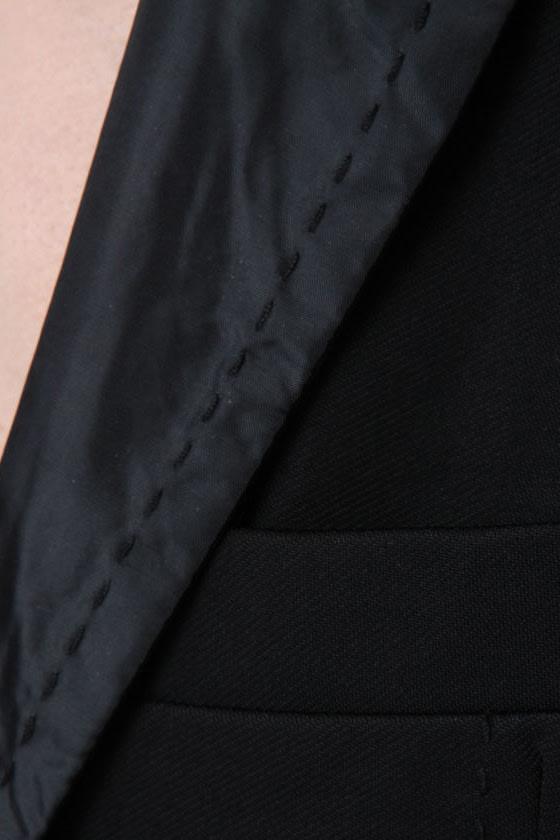 Lapel\\\\\\\\\\\\\\\\\\\\\\\\\\\\\\\'s Show Black Blazer