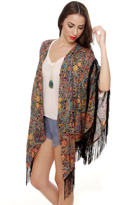 Billabong Way Out Paisley Fringe Wrap