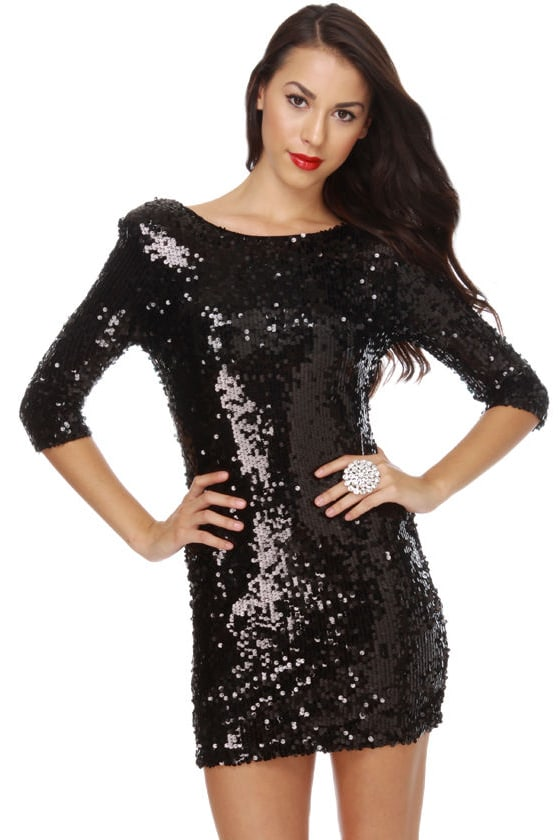 Blaque Label Supernova Black Sequin Dress