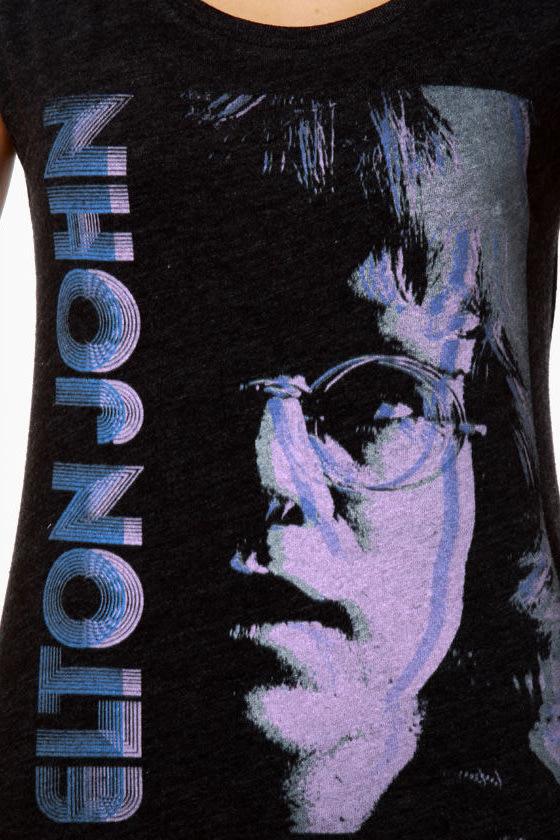 Chaser Elton John\\\\\\\'s Stare Black Muscle Tee