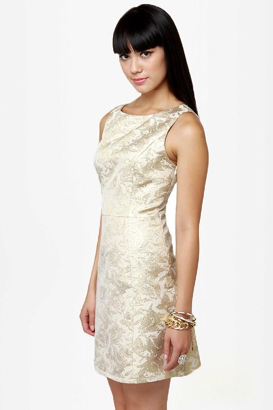 Ruling Dynasty Gold Brocade Dress