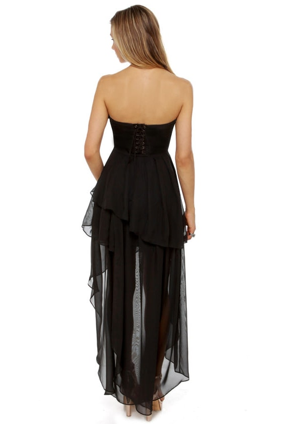 Dark Angel Strapless Black Dress