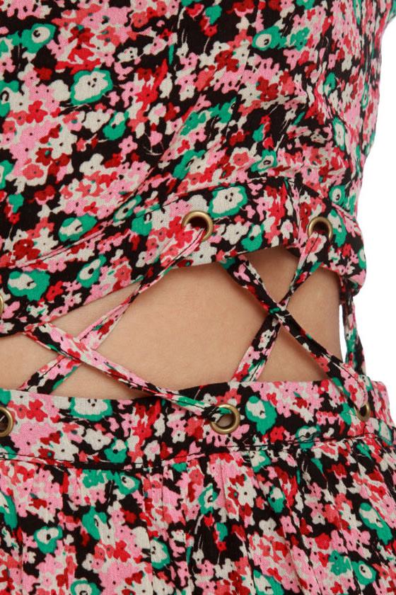 Lucca Couture Midsummer Pink Floral Print Dress