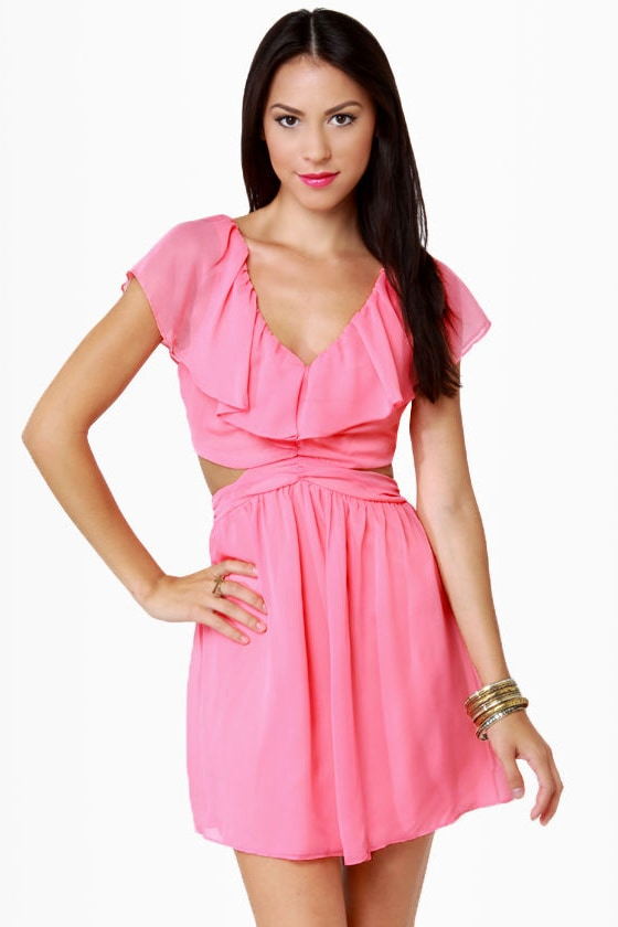 Ruffle, Shuffle, and Roll Bubblegum Pink Dress
