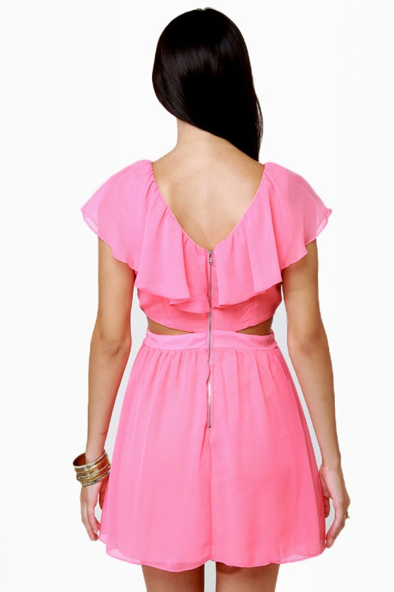 Ruffle, Shuffle, and Roll Bubblegum Pink Dress
