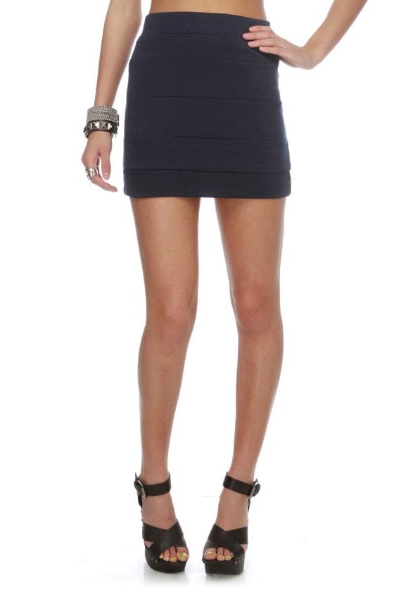 mini skirt navy blue skirt paneled skirt 22 00