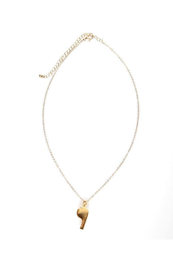 Team Captain Gold Whistle Necklace at Lulus.com!