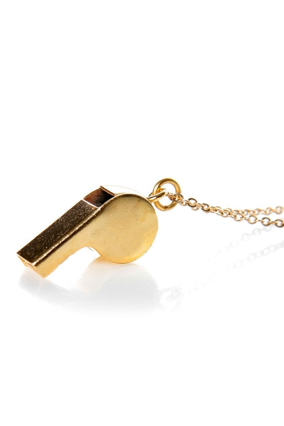 Team Captain Gold Whistle Necklace