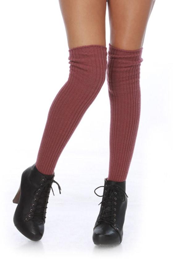 69a59caedd2 Cute Purple Knee Socks - Thick Socks -  25.00