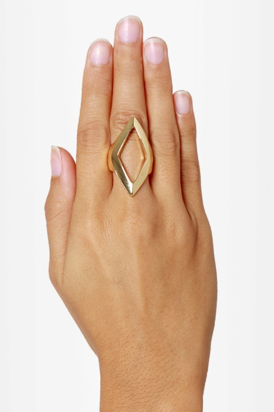 Point Taken Statement Ring at Lulus.com!