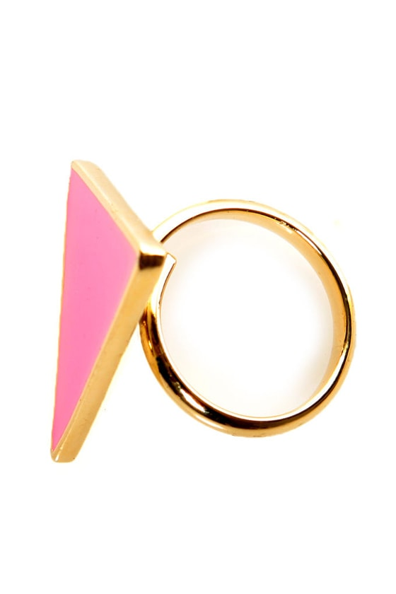 Tri It, You'll Like It Neon Pink Ring