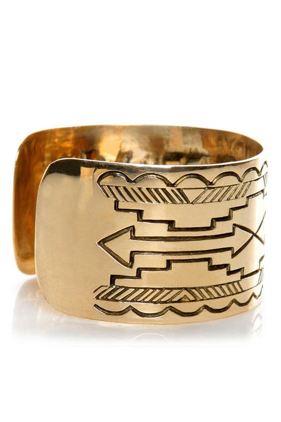 Jen\\\\\\\\\\\\\\\'s Pirate Booty Distant Mesa Gold Cuff