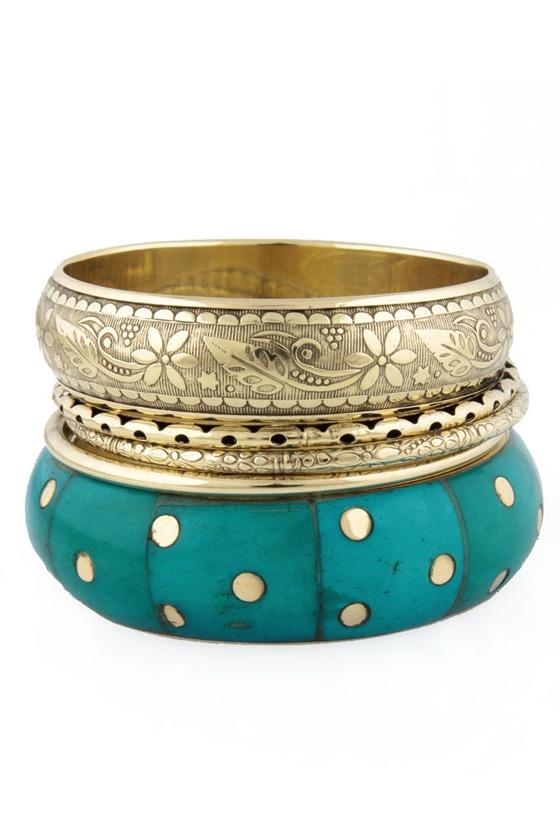 Jasmine's Wish Turquoise Bangle Set