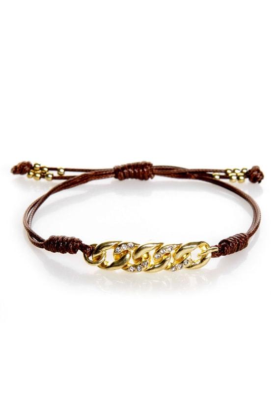 More Than Friends Brown Friendship Bracelet