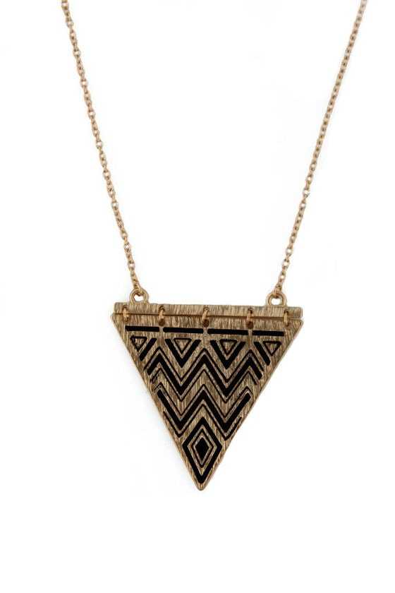 A-Cute Angle Gold Necklace