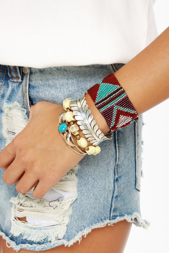Arm Party Planner Beaded Stretch Bracelet at Lulus.com!