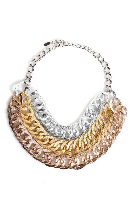 Three's Charming Chain Necklace at Lulus.com!