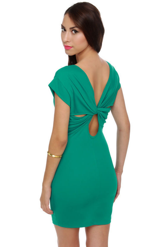 Twist and Knockout Teal Dress at Lulus.com!
