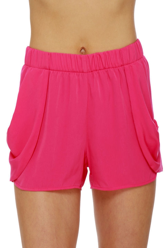 Five Alarm Hot Pink Shorts at Lulus.com!