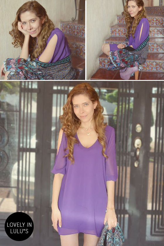 LULUS Exclusive Shifting Dears Purple Long Sleeve Dress at Lulus.com!