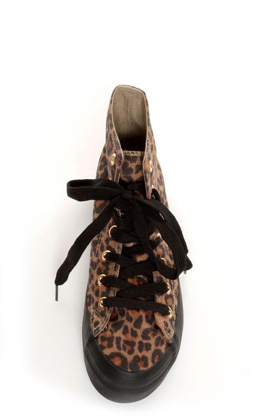 Sixtyseven Vero Leopard Print Platform Sneakers at Lulus.com!
