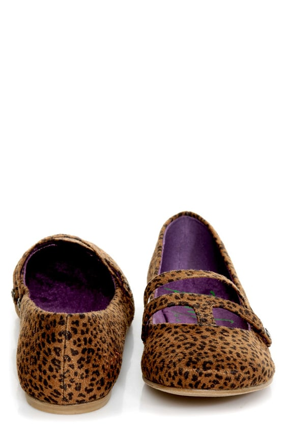 Blowfish Pippen Black and Rust Baby Cheetah Print Ballet Flats at Lulus.com!