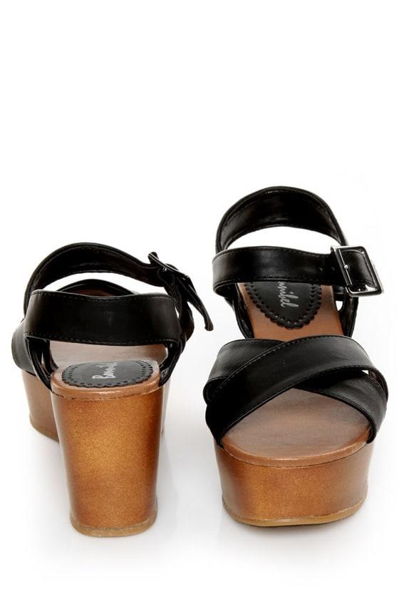 Bonnibel Elmo Black Platform Wedge Sandals